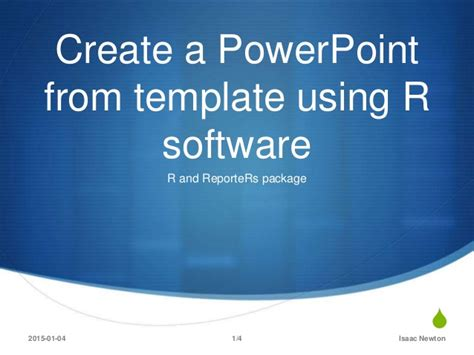building a powerpoint template create a powerpoint document from template using r