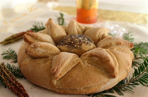 farina fiore pane fiore stella di natale per la tavola delle feste