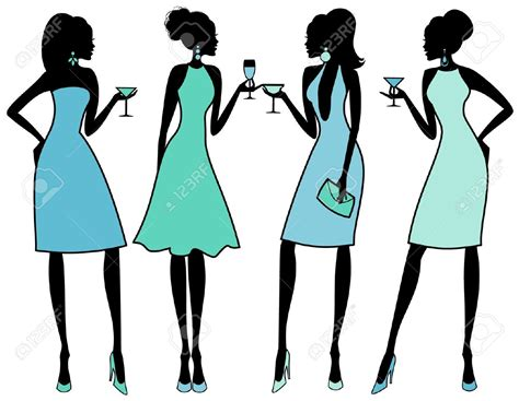 cocktail party silhouette man woman cocktail party clipart free