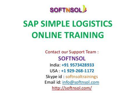 tutorial sap logistics sap simple logistics training sap simple logistics