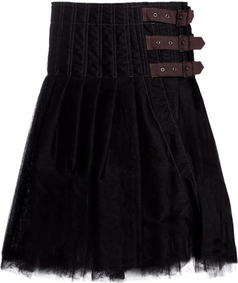 junya watanabe womens tulle highwaisted kilt skirt in