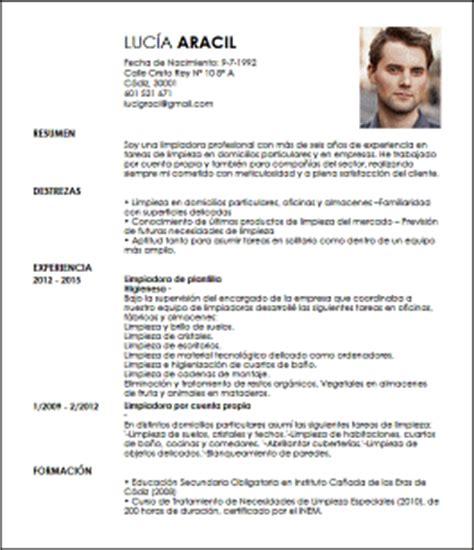 Modelo De Curriculum Vitae Profesional Pdf Modelo Cv Limpiador Profesional Livecareer
