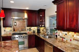 dynasty cherry wood burgundy onyx traditional kitchen