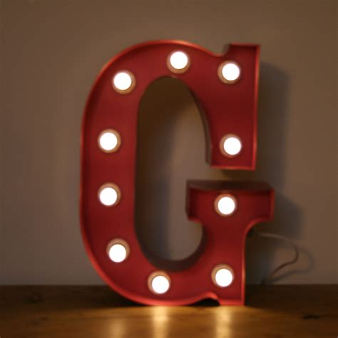 vintage marquee circus light up letter g small the