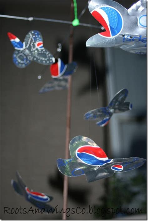 butterfly mobile made from aluminum pop cans gingerbread rootsandwingsco soda can butterfly mobile