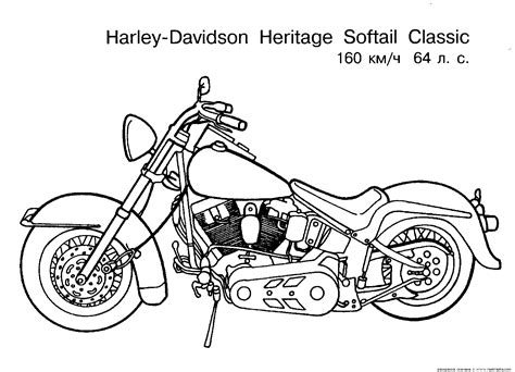 harley motorcycle coloring pages to print free motorcycle coloring page letscoloringpages com