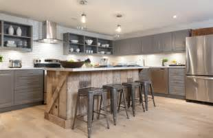 wood island kitchen dan s custom cabinets modern kitchen reclaimed wood