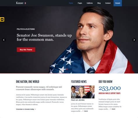 15 Political Php Themes Templates Free Premium Templates Political Caign Website Templates Free