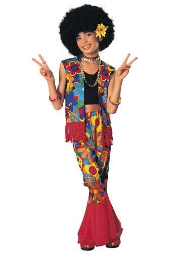 Girls Flower Power Hippie Costume Halloweencostumescom | girls flower power hippie costume