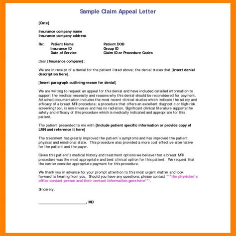 sle letter of dispute to insurance company appeal letters letter to appeal a claim