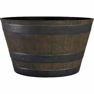 Whiskey Barrel Planter Lowes by Garden Treasures Brown Whiskey Barrel Planter Lowe S