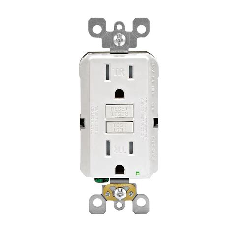 decora 15a125v tr gfci receptacle white the home depot