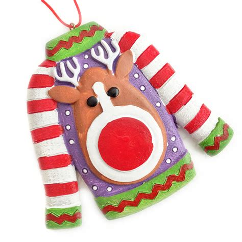 the legend of the ugly sweater christmas ornament the
