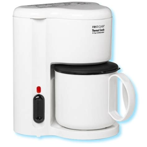 Jerdon 4 Cup thermal coffee maker, white. No. 780 CM21W