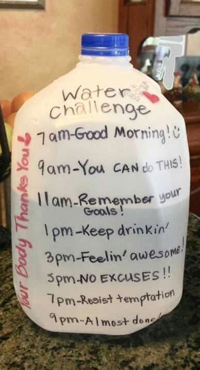 water weight loss challenge 1000 ideas about water challenge on gallon