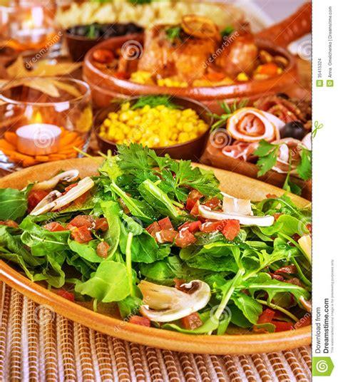 fresh rocket salad stock images image 35415324
