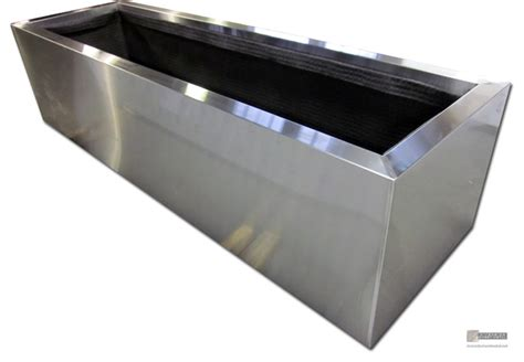Sheet Metal Planters by Stainless Steel Planters Modern Indoor Pots And
