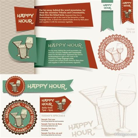 menu design label 4 designer menu restaurant label templates 05 vector