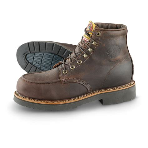 justin rugged gaucho justin rugged gaucho 6 quot steel toe work boots chocolate 620999 work boots at sportsman s guide
