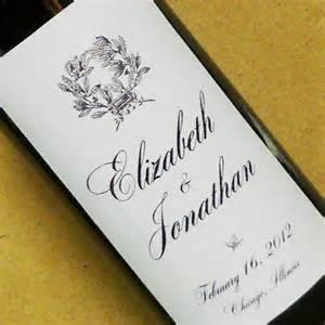 Wine labels personalized wedding wine bottle labels elegant script