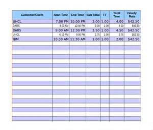 timesheet invoice template excel 8 timesheet invoice templates free sle exle