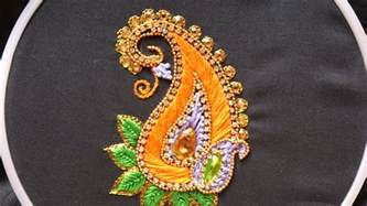 designs pictures hand embroidery designs aari style embroidery for ghagras dresses sarees and blouses youtube