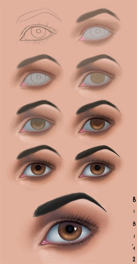 tutorial photoshop painting tutorial photoshop n2 eye by elybibi on deviantart