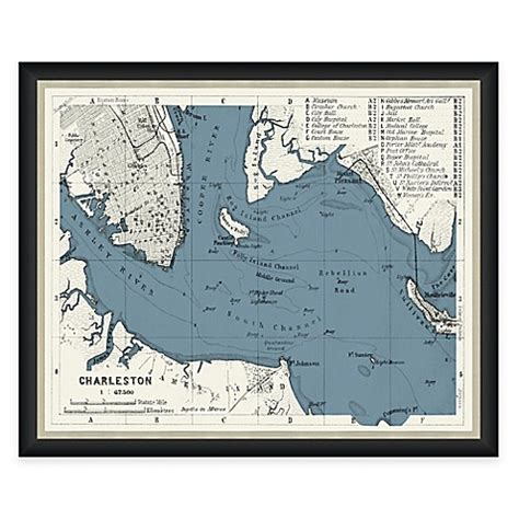 bed bath and beyond charleston wv buy framed charleston sc map wall d 233 cor from bed bath