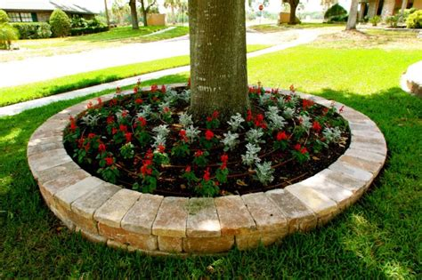 Planter Border Ideas by 15 Eye Catching Flower Beds Around Trees You Need To See