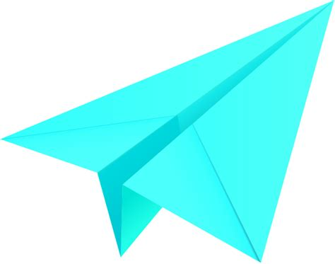 Paper Aeroplane - turquoise blue paper plane paper aeroplane vector icon