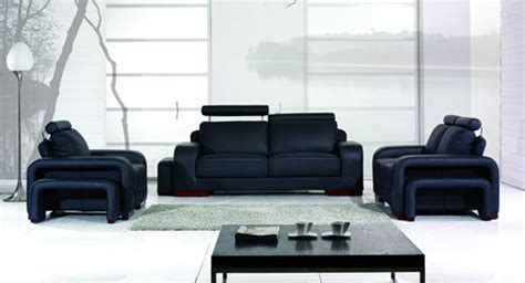 black sofa set designs bentley contemporary black sofa set padstyle interior