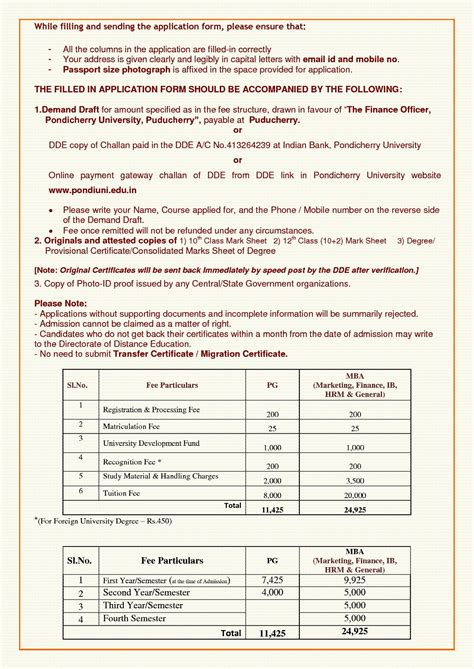 Pondicherry Mba Admission 2017 by Pondicherry Directorate Of Distance Education