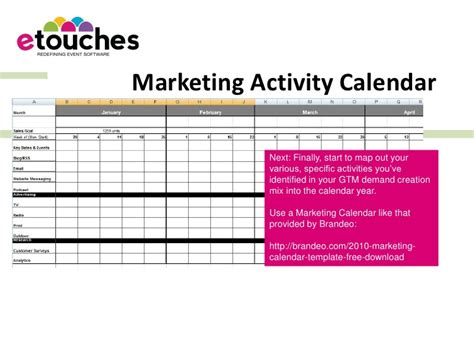marketing activity calendar template suzanne carawan generic marketing plan template