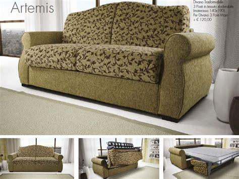 divano artigianale divano letto in tessuto artemis artigianale