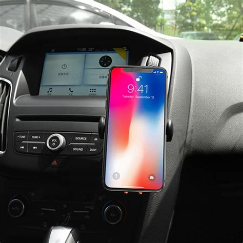 Hoco Car Multi Charger With 4 Power Outlet hoco car air vent outlet mount 10w phone wireless charger charging stand holder for iphone 8