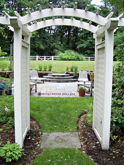 Garden Arbor Houzz Cottage Garden Arbor Fence Patio Wall Traditional