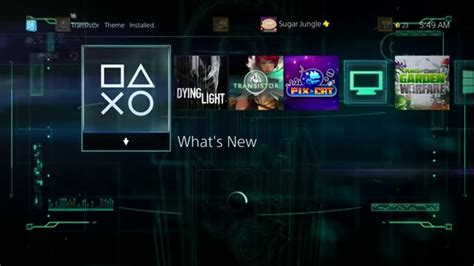 ps4 themes youtube transistor ps4 theme youtube