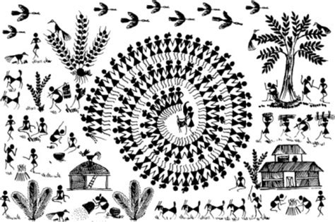 Small Decorative Vases Buy Small Warli Art Village Wall Decal Ethnic Indian Online