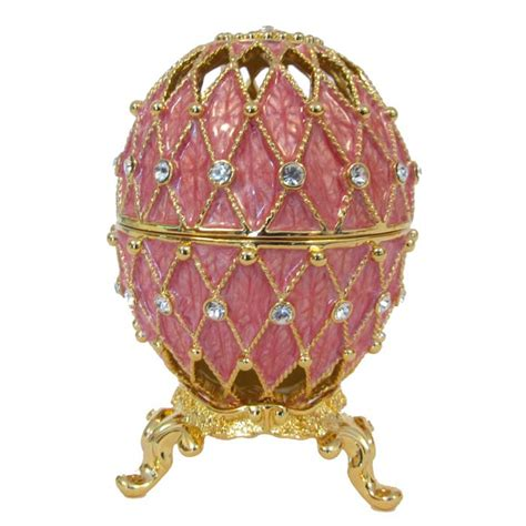 Wooden Home Decoration by Faberge Syle Jewelry Faberge Egg Openwork Pink Russian