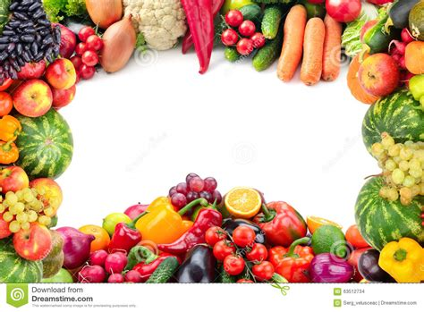 l word vegetables frame of vegetables and fruits stock photo image 63512734