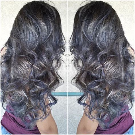 charcoal hair color quot smoke bomb quot hair charcoal hair color gray hair