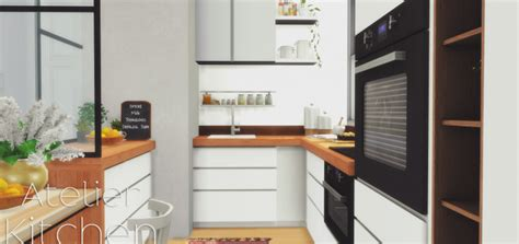 pyszny design s atelier kitchen sweet sims 4 finds