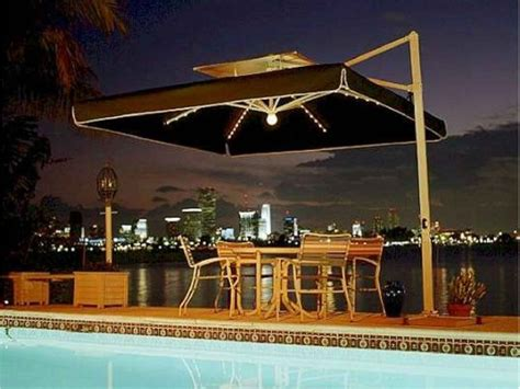 offset umbrella with lights differences in offset patio umbrellas the wooden houses