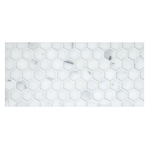 hexagon 1 quot mosaic tile honed statuary marble