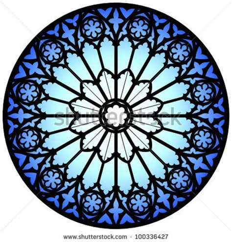 gothic rose window illustration 100336427 shutterstock