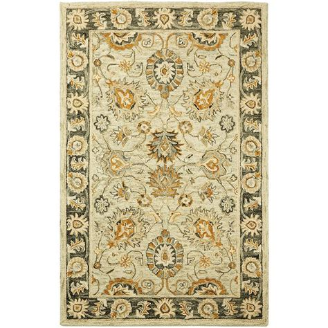 2 x 3 accent rugs home decorators collection dynasty wheat 2 ft x 3 ft accent rug 9963000810 the home depot