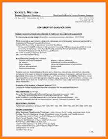 Statement Of Qualifications Template by 7 Statement Of Qualification Template Statement 2017