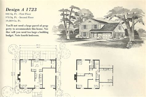 vintage floor plans vintage house plans 1723 antique alter ego