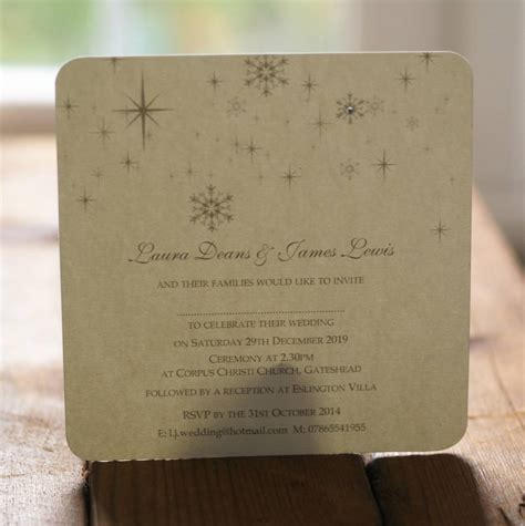 snowflake winter themed wedding invitations by beautiful day notonthehighstreet
