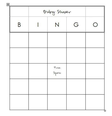 blank baby shower bingo cards template 7 best images of printable baby bingo sheets baby shower